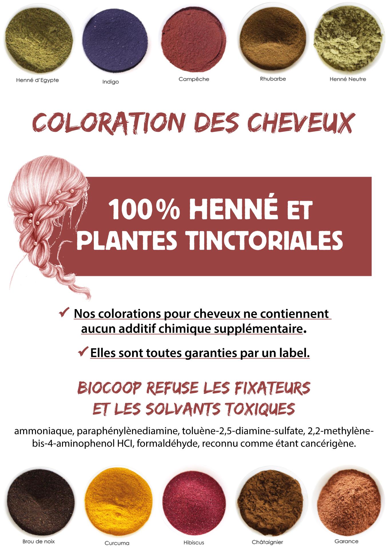 Coloration cheveux bio biocoop